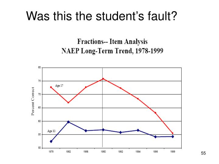 Was this the student's fault?