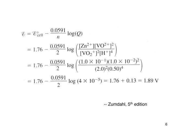 -- Zumdahl, 5