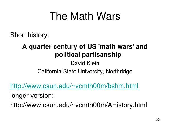 The Math Wars