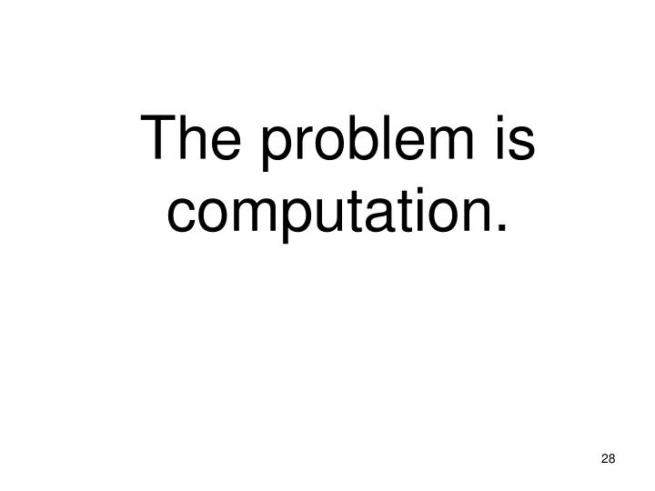 The problem is