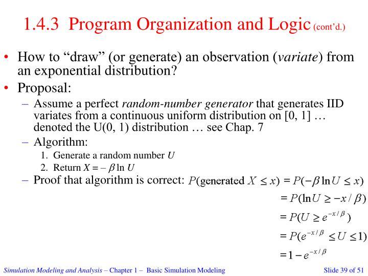 1.4.3  Program Organization and Logic