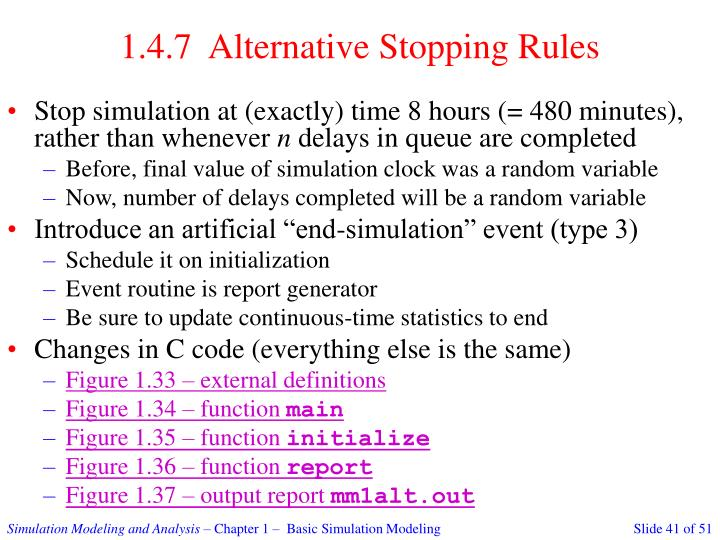 1.4.7  Alternative Stopping Rules