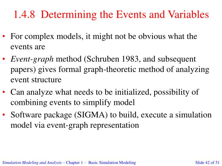 1.4.8  Determining the Events and Variables