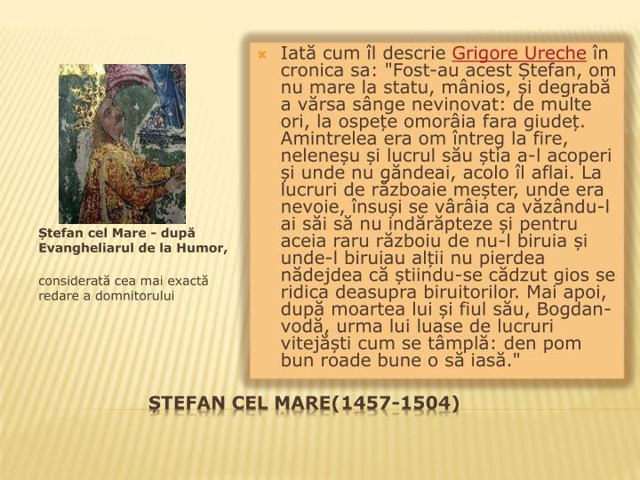 Tefan cel mare 1457 1504