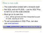 how to run code