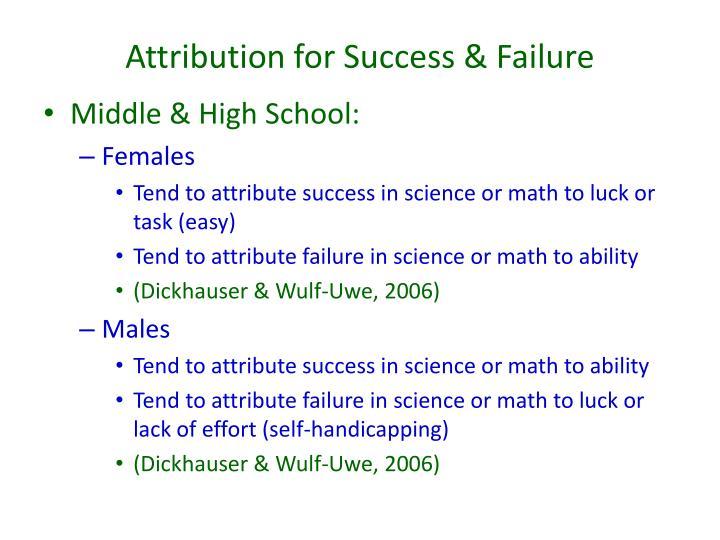 Attribution for Success & Failure