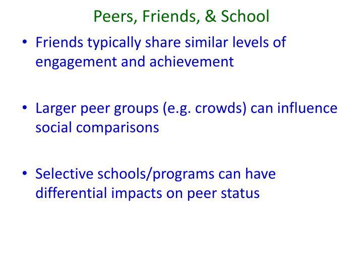 Peers, Friends, & School