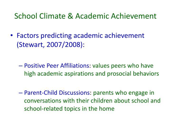 School Climate & Academic Achievement