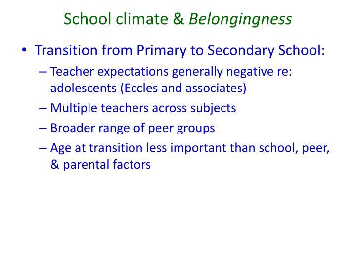 School climate &