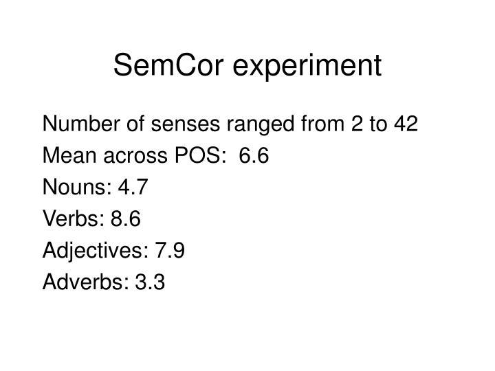 SemCor experiment