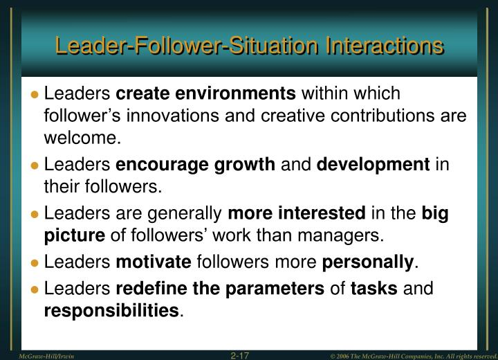 Leader-Follower-Situation Interactions