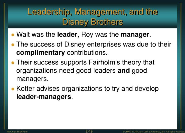 Leadership, Management, and the