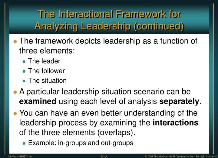 The Interactional Framework for