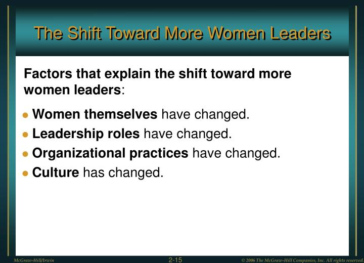 The Shift Toward More Women Leaders