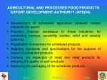 agricultural and processed food products export development authority apeda