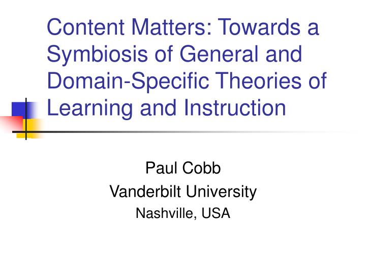 Ppt Content Matters Towards A Symbiosis Of General And Domain