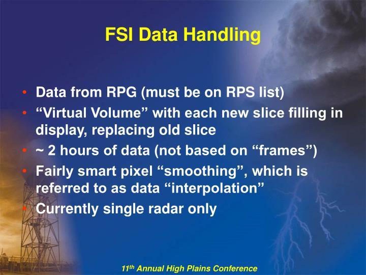 FSI Data Handling