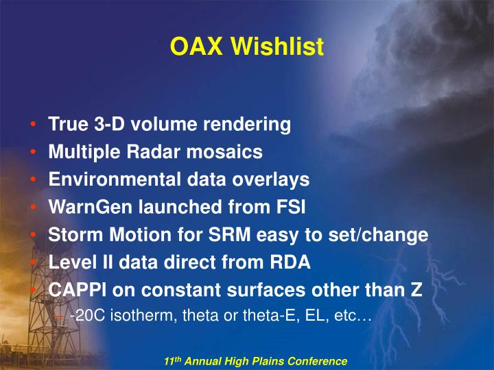 OAX Wishlist