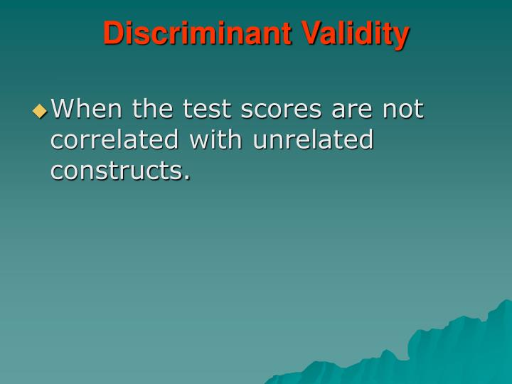 Discriminant Validity