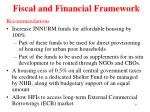 fiscal and financial framework