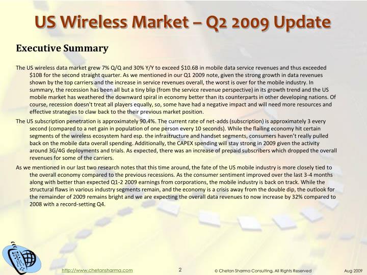 Us wireless market q2 2009 update
