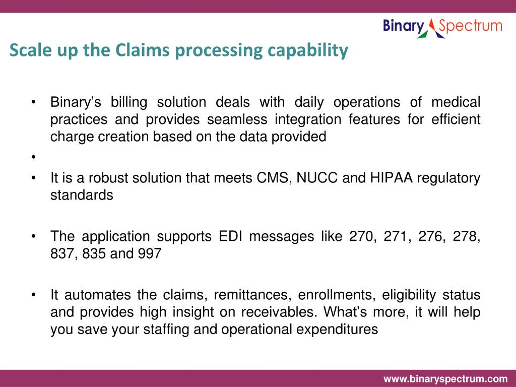 Scale up the Claims processing capability