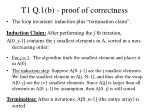 t1 q 1 b proof of correctness