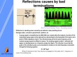 reflections causes by bad terminations