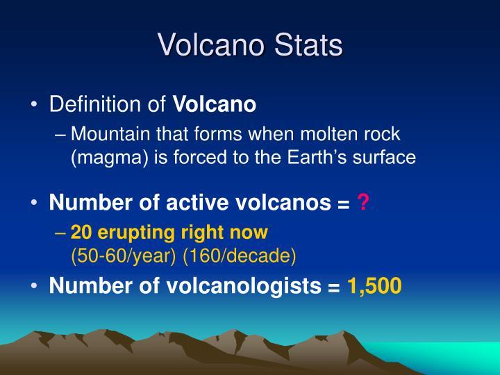 Volcano stats