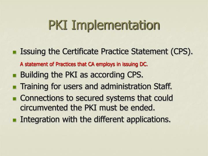 PKI Implementation