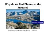 why do we find plutons at the surface