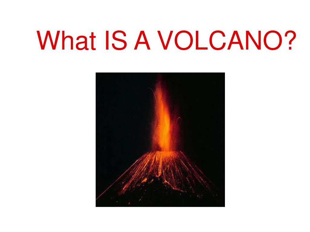 what is a volcano l.