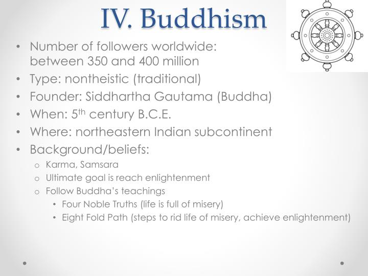 IV. Buddhism