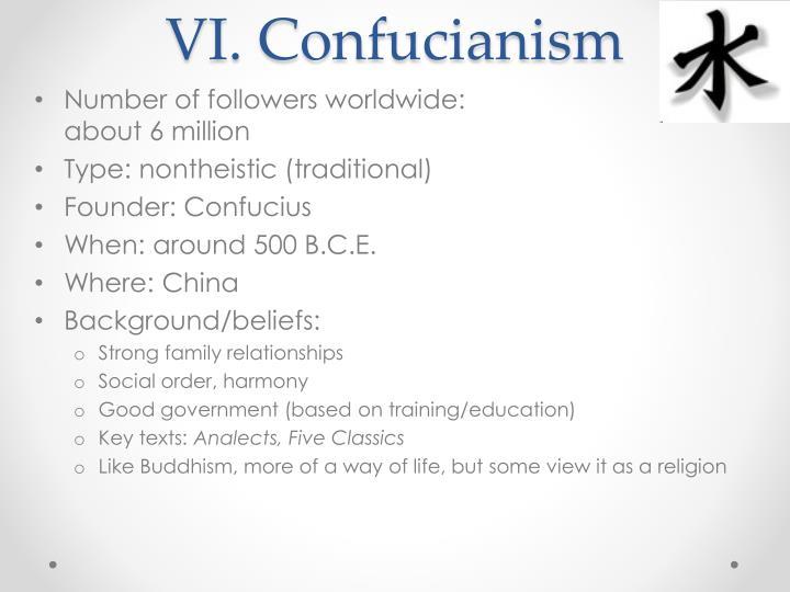 VI. Confucianism