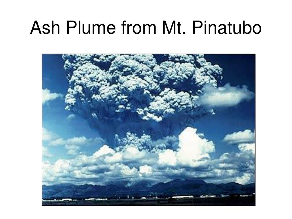 Ash Plume from Mt. Pinatubo