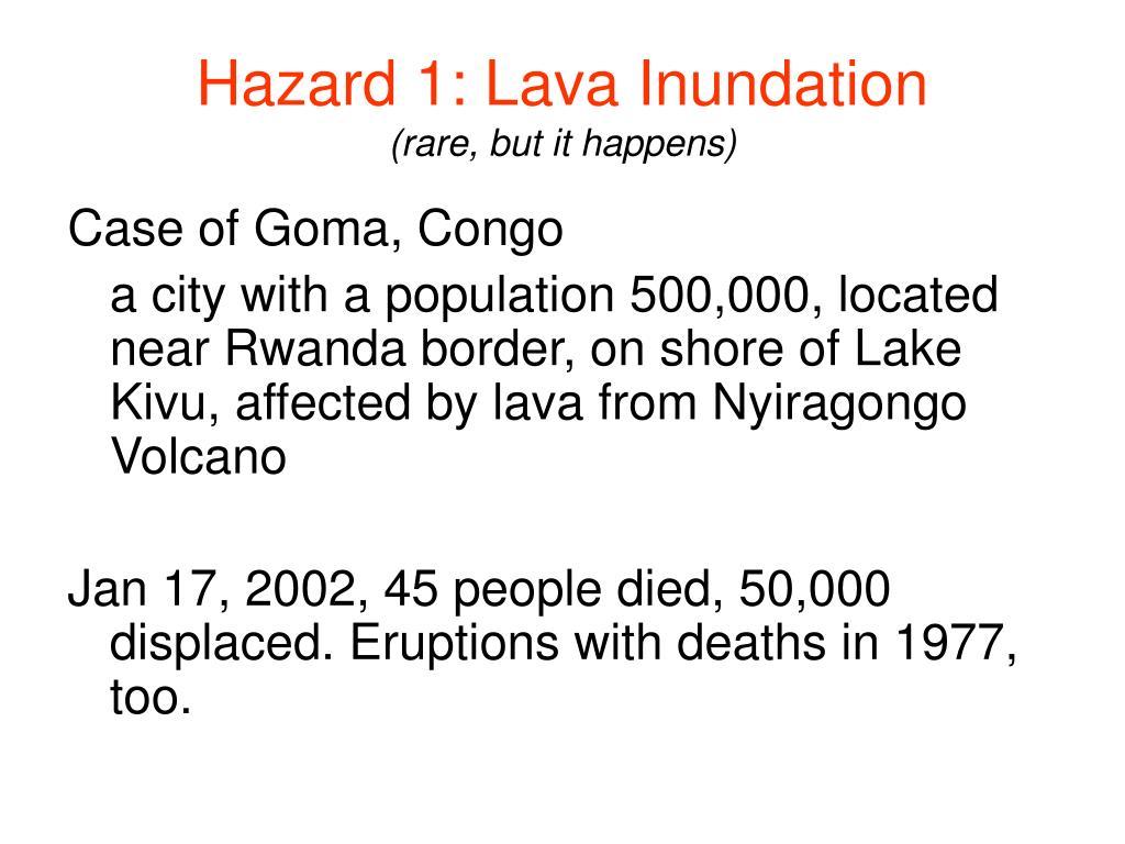 Hazard 1: Lava Inundation