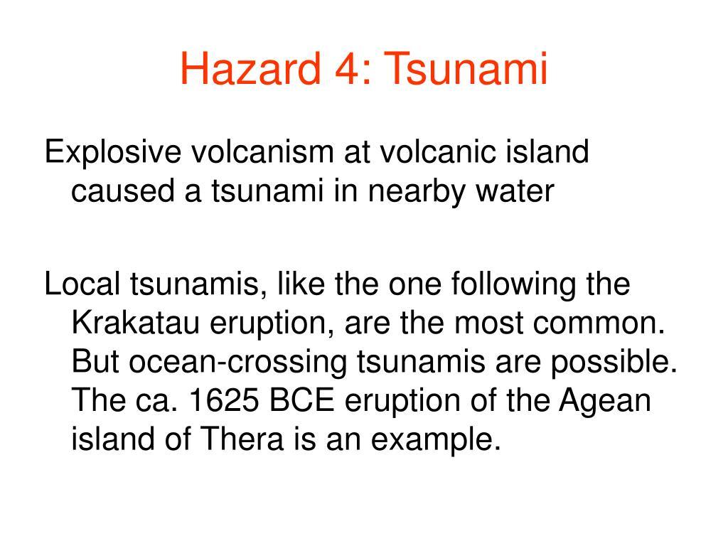 Hazard 4: Tsunami