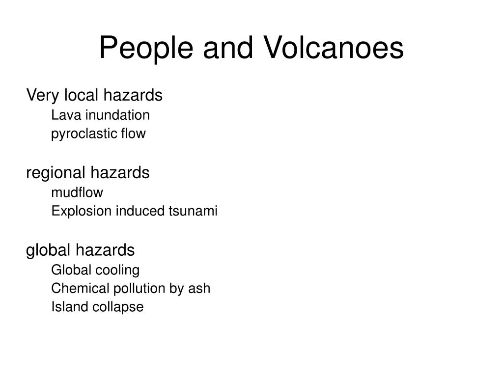 People and Volcanoes