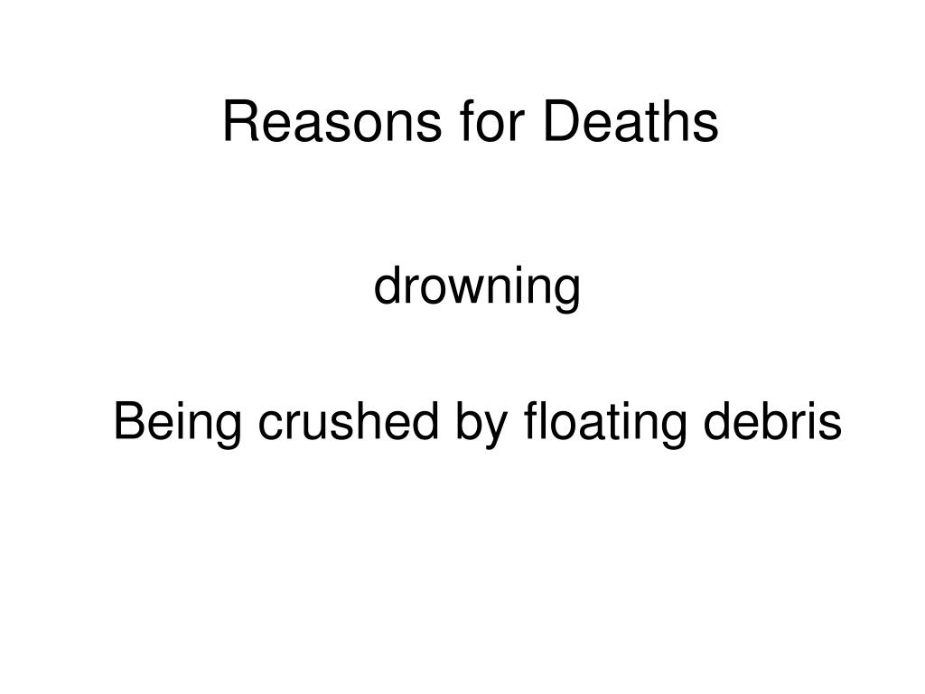 Reasons for Deaths