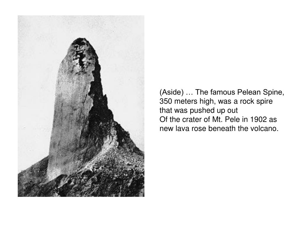 (Aside) … The famous Pelean Spine,