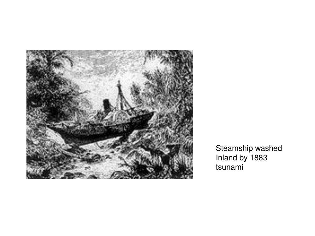 Steamship washed