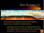 plate tectonics 1