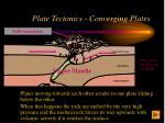 plate tectonics converging plates