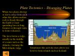 plate tectonics diverging plates