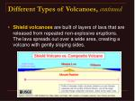 different types of volcanoes continued25