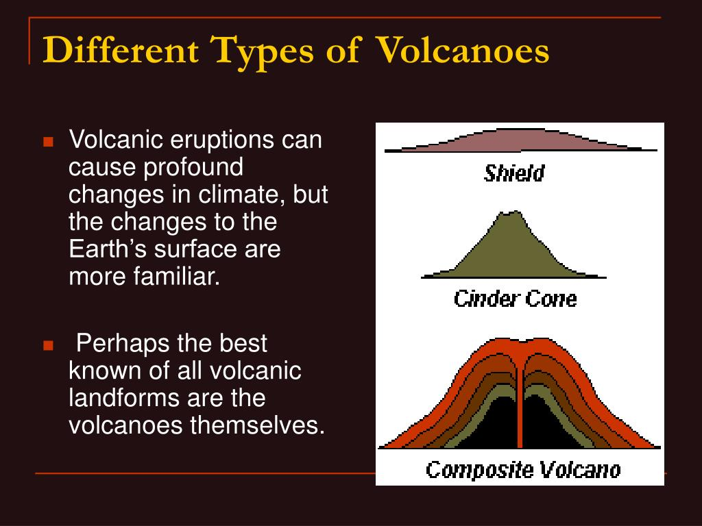 Volcanic eruptions can cause profound changes in climate, but the changes to the Earth's surface are more familiar.