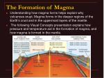 the formation of magma