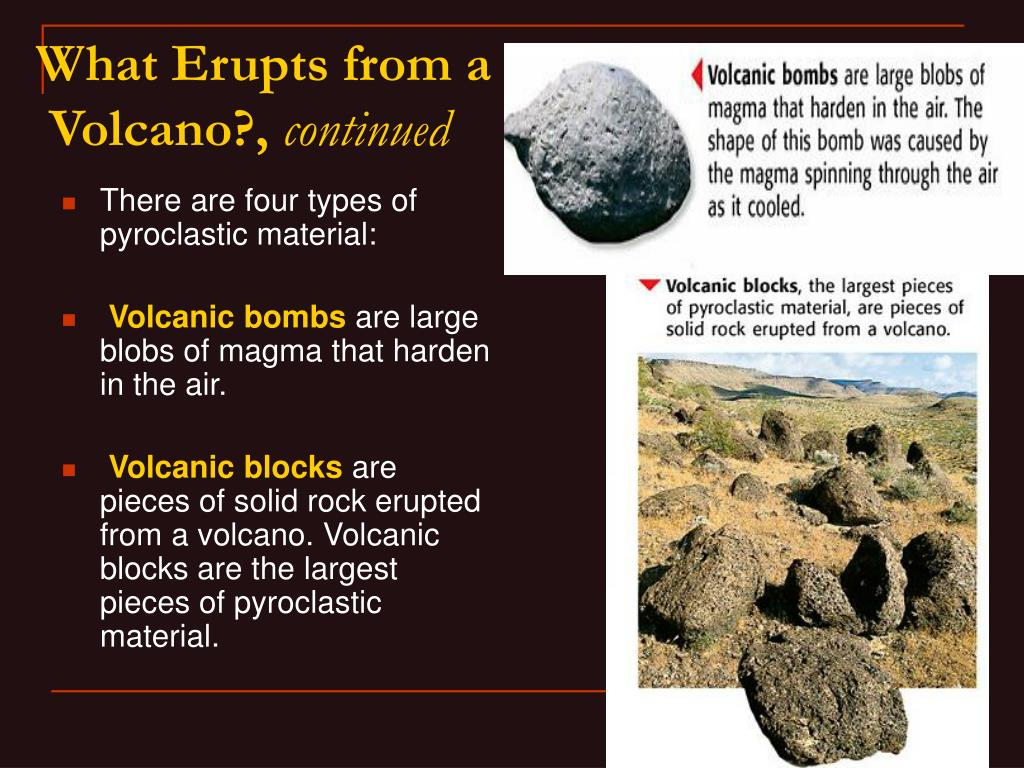 There are four types of pyroclastic material: