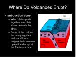 where do volcanoes erupt