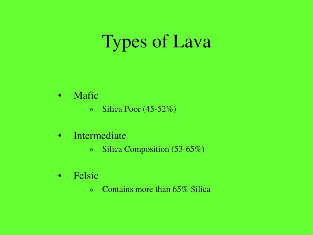 Types of Lava